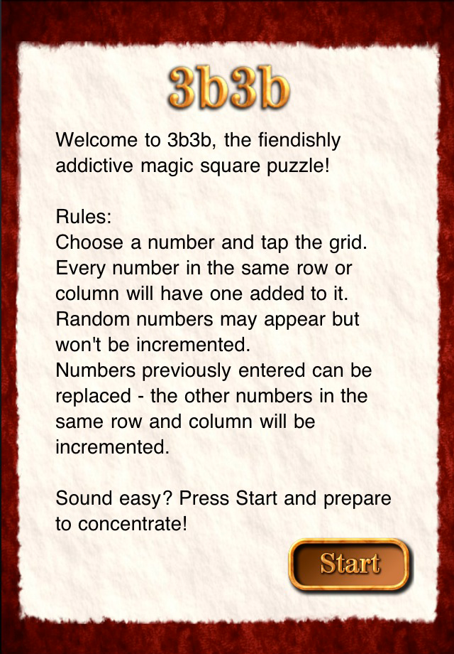 Screenshot 3b3b – Magic Square Puzzle